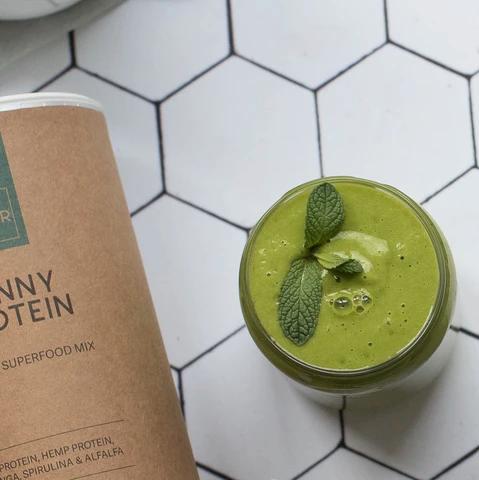 vegan protein green smoothie
